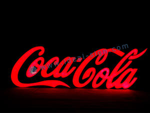 Wholesale acrylic led light sign Coca Cola letter signs epoxy resin signs