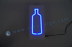 Wholesale Custom lighted bottle shape signs beer signs