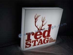 Red Stag LED Acrílico Box Luz Para Promoção Bar
