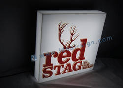 forme RED STAG Carré Indoor signes LED / Light Box LED acrylique Pour Bar Promotion