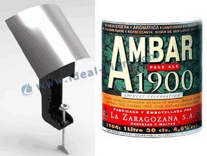 Barra di metallo parte superiore della bottiglia adesivo Opener visualizzazione offerta Marca