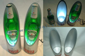 China supplier for personalized led pvc beer bottle racks for wholesale