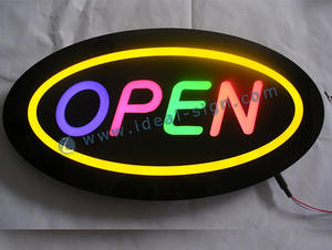 Custom indoor led resin open signs resin bar open signs led resin sign open for sale