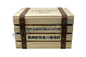 China supplier of simple and classical design wine packing boxes for sale