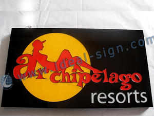 Personalized led epoxy resin signs custom indoor resin signs supplier
