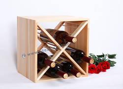Quadrato di vino di legno della cremagliera della scatola progettata per visualizzare o memorizzazione 30 * 30 * 24CM