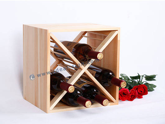small wooden wine racks