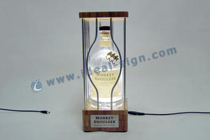 Custom made wine bottle display stand liquor glorifier for wholesale