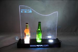 Popular Display de LED de acrílico vinho garrafa