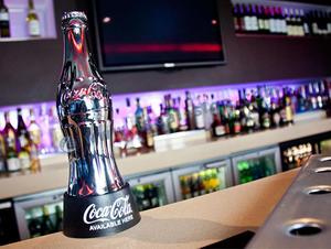Silver / Bottiglia dorata della coca-cola Top Bar apribottiglie