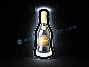 Bottiglia di figura ha condotto il segnale luminoso interno per Bar / Pub