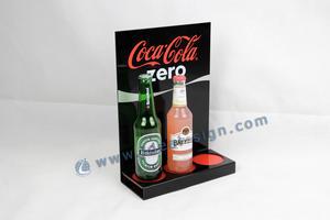 Stand di bottiglia liquore acrilico Grossista CocaCola Zero