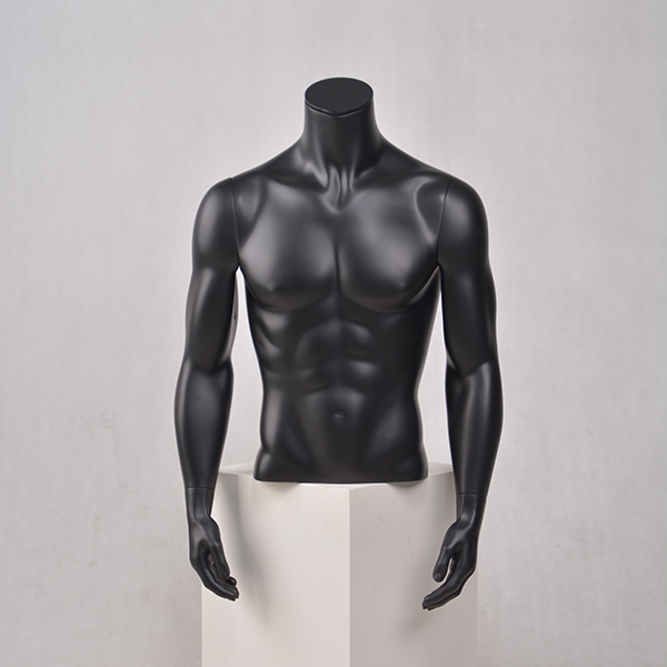 Half body size male mannequin torso bust with arms for sale