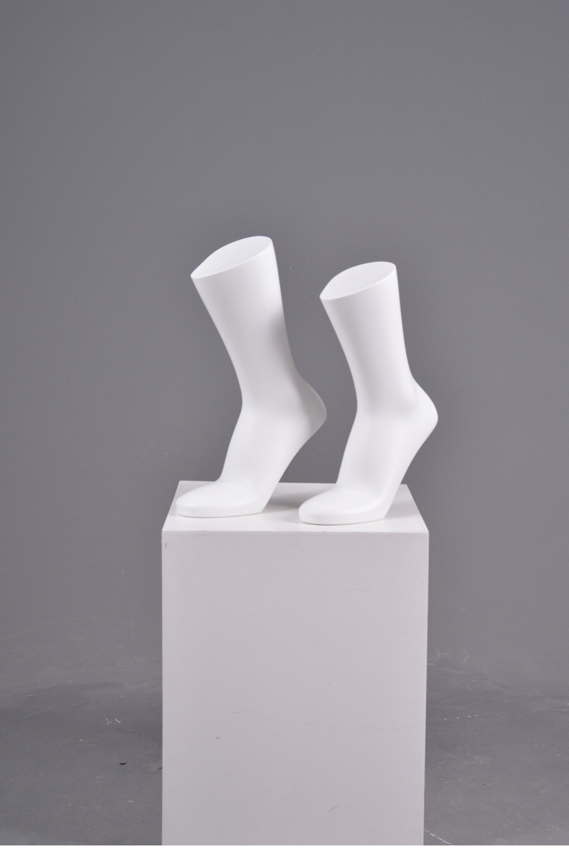 Plastic male foot display shoe mannequin feet for socks