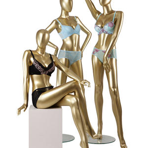 golden sexy underwear female mannequin for bra