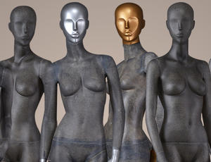 fiber glass abstract female posing mannequin