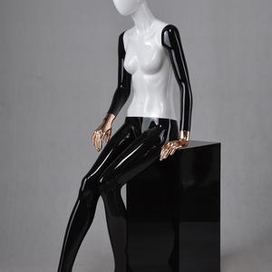 western black mannequin sitting full body