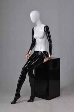Western jewellery display fashion poseable black female dummy mannequin for sale