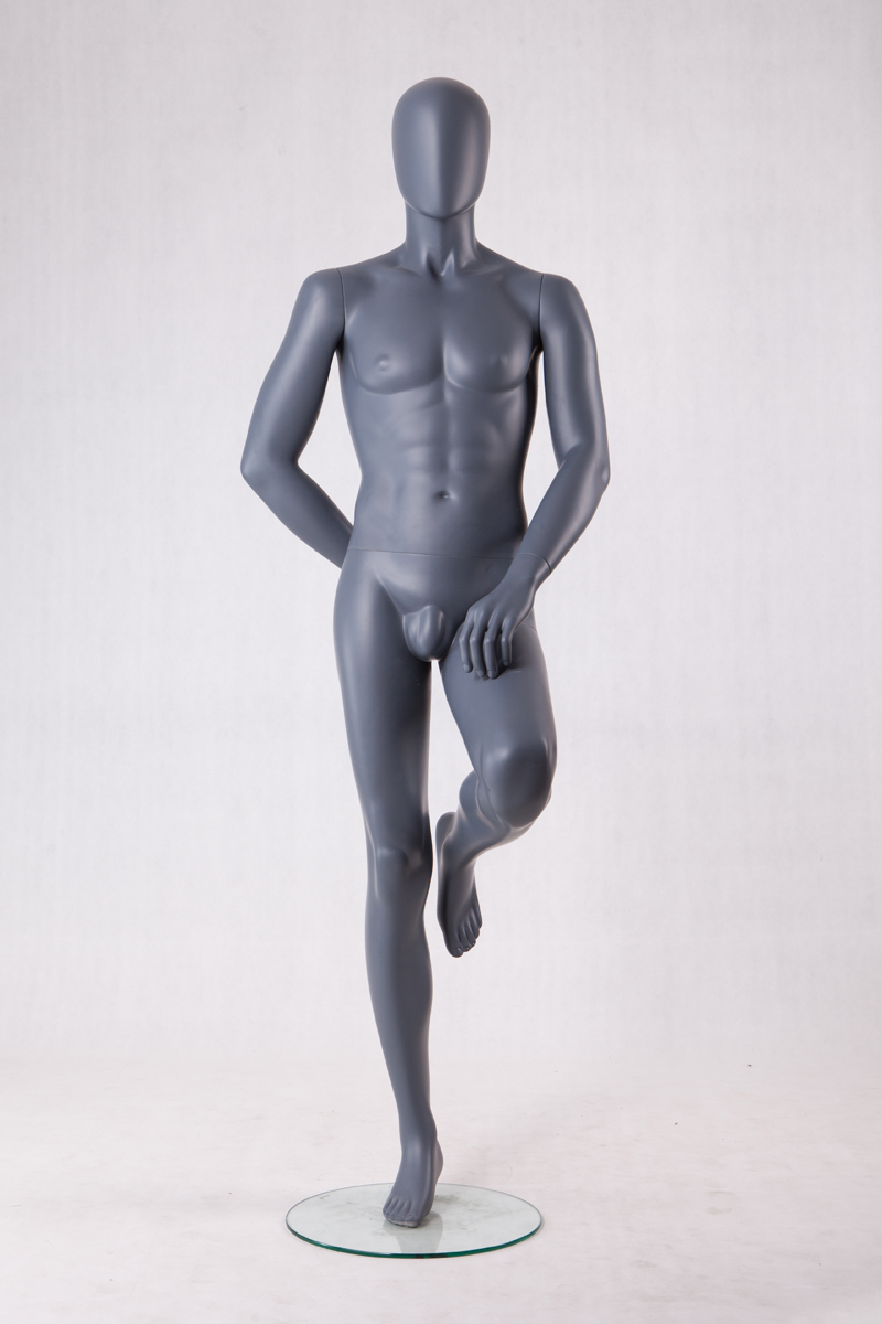 Wholesale cheap sitting muscle male mannequin with penis men for sale