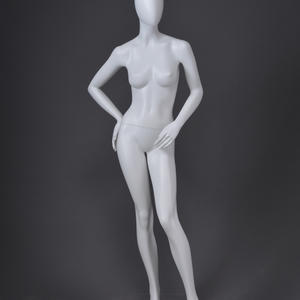 abstract glossy body mannequin for clothes