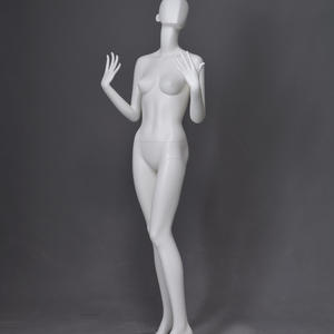 fiberglass abstract female egg head gray mannequin