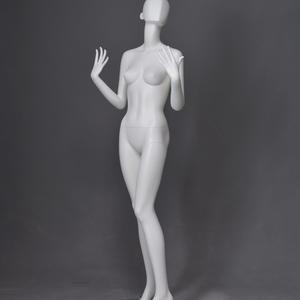glasvezel abstracte vrouwelijke eicel hoofd grijze mannequin