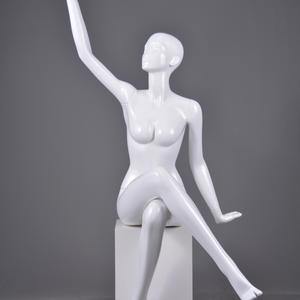 life size glossy female mannequin full body display set