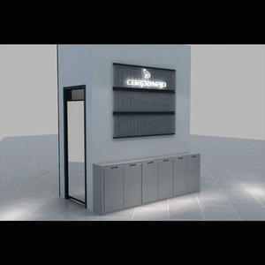 Retail wall wooden counter display case cabinets,display cases for sale