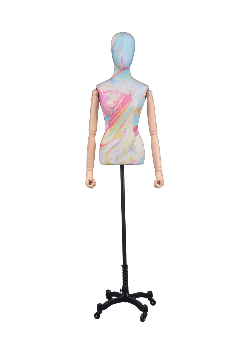 Adjustable cloth fitting body form linen tailors mannequin female for wedding dress(RNG-1,cheap dress form for sale)