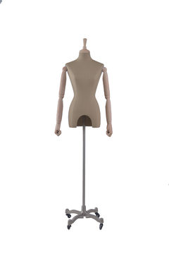 Adjustable cloth fitting body form linen tailors mannequin female for wedding dress(RNG-6,dress mannequin for sale)
