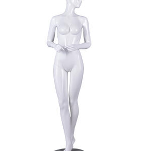 life size glossy female mannequin full body display set,white mannequin