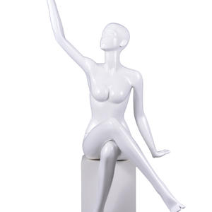 life size glossy female mannequin full body display set,seated female mannequins for sale