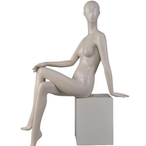 fashionable faceless sexy lifelike mannequins for sale,sitting female mannequin
