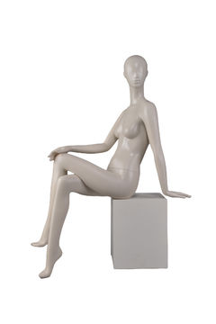 fashionable online full body cheap faceless sexy lifelike female mannequin doll for sale(VEN-8,sitting female mannequin)