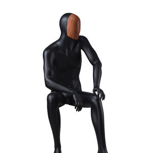 business suit black male mannequin,seated mannequin