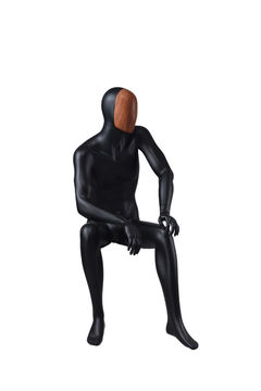 Shop man business suit black cool male underwear cheap mannequin(EDG-7,seated mannequin)