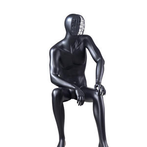 business suit black male mannequin,sitting male mannequin