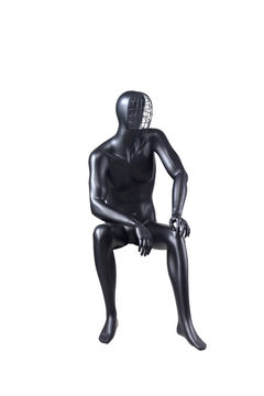 Shop man business suit black cool male underwear cheap mannequin(EDG-8,sitting male mannequin)