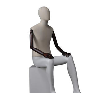 full body fabric mannequin men dummy,sitting male mannequin