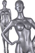 Full breast big boobs sexy pose nude female window display mannequin(AI-4,window mannequins for sale)