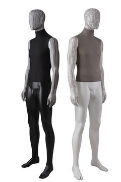 Full body fabric wrapped water transfer printing mannequin for window display