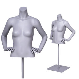 Torso bust female mannequin black female half man headless mannequin torso with arms for sale