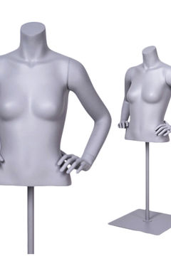 Torso bust female mannequin black female half man headless mannequin torso with arms for sale(DF-1 hanging female torso mannequin)