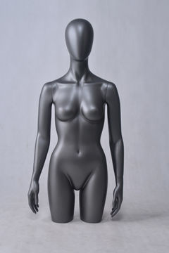 African black torso bust mannequin half body torso body and stand female mannequin for women bikini(DF-11 female torso mannequin)
