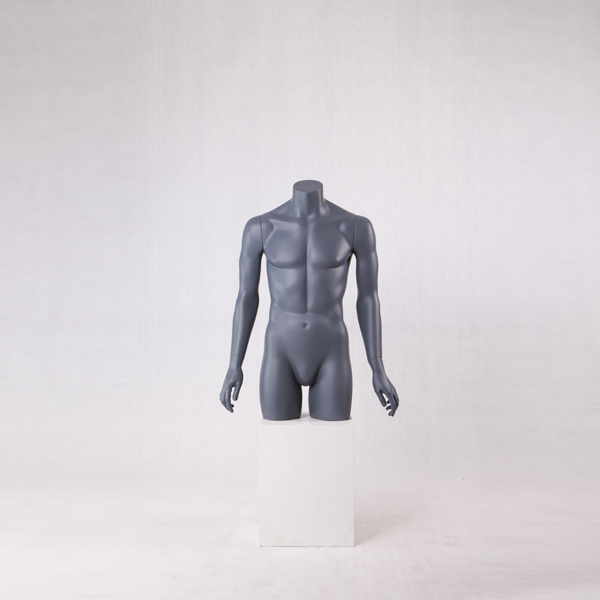 Half body male mannequin muscle male torso mannequin(HS series male torso with stand)