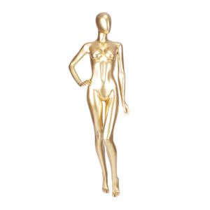 elegant egg head fashionable female glossy gold mannequin custom mannequin manufacture