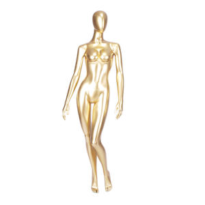Clothes window display high glossy champagne female gold mannequin sexy lifelike female mannequin