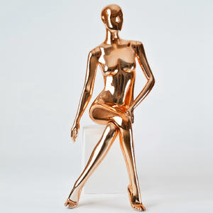 Chrome silver rose gold pink full body female chrome mannequins manufacturer