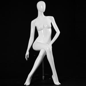 sexy mannequin with big chest female mannequins Kneeling pose display window dummy(HFM series female mannequin)