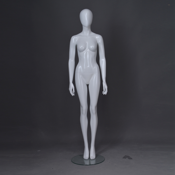 Glossy white fashion fiberglass mannequins movable full body female showcase mannequin with head(PF series female mannequin)
